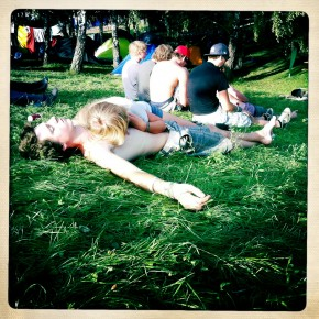 Relaxing in the grass