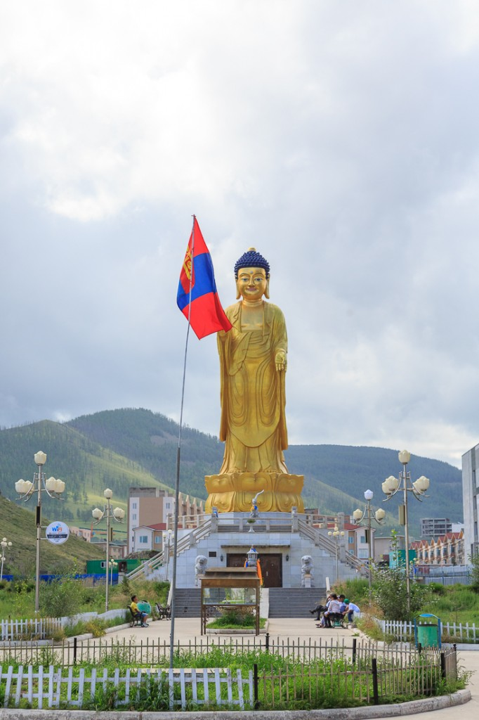 Goldener Buddha in Ulaanbaator