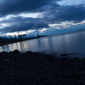 See in der Abenddämmerung