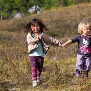 mongolicshe Jungend trifft die holländische