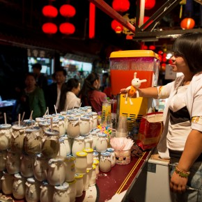 street market - joghurt vendor