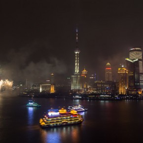 Shanghai welcomes us with fireworks