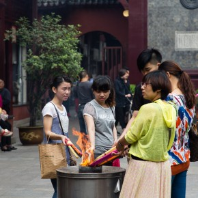 Burnung incense sticks
