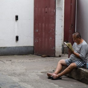 Enjoying a good book at the temple of Confucius