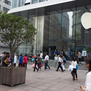 Apple shop and tree watering