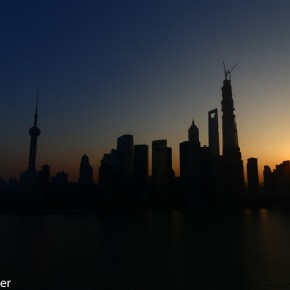 Pudong skyline at dawn
