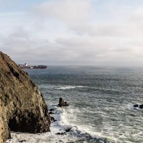 Und dann ist San Francisco einfach aus und der Pazifik fängt an
