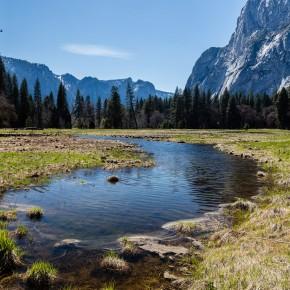 Wasser, Bäume, Berge
